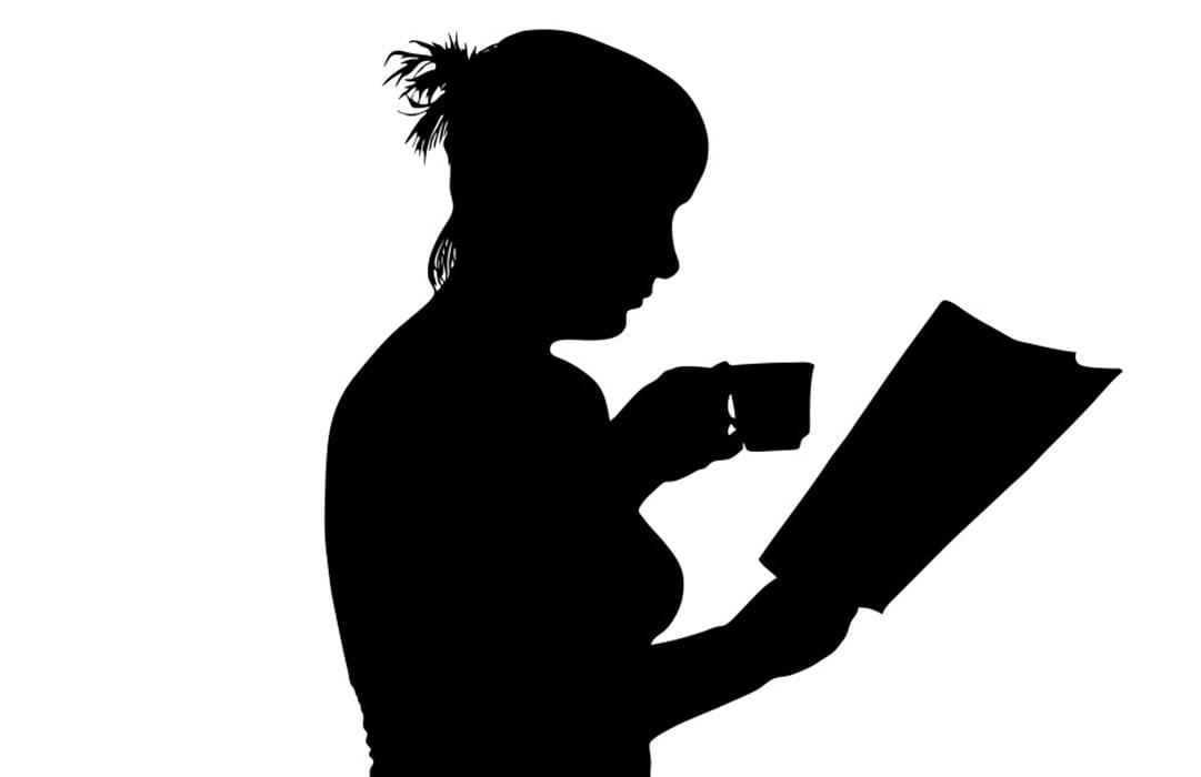 איור אשה שותה קפה