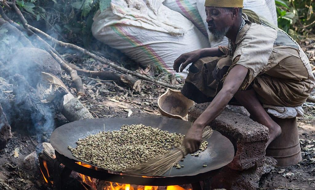 הכנת קפה באתיופיה