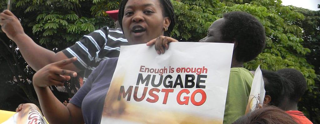 זימבבואה הפגנה
