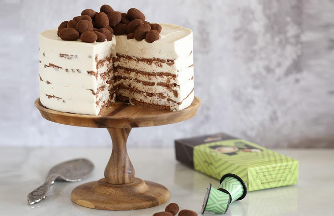 עוגת ביסקוויטים עם קפה אגוזים