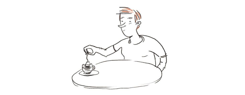 זה שלא שותה קפה איור